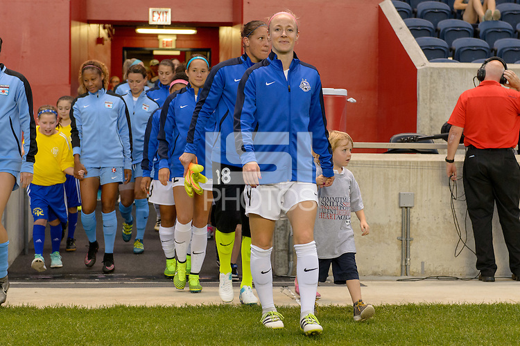 Chicago, IL - Wednesday Sept. 07, 2016: Becky Sauerbrunn, player escort during a regular season National Women's Soccer League (NWSL) match between the Chicago Red Stars and FC Kansas City at Toyota Park.