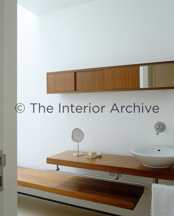 In the bathroom of a London house inspired by architect John Pawson the  bathroom fittings in. Andrew Wood   The Interior Archive