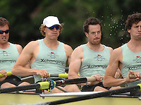 Henley, Great Britain. Cambridge University, left Peter CHAMPION and Tom EDWARDS at the start in their heat of the Ladies Challenge Plate,   Henley Reach, England 05/07/2007  [Mandatory credit Peter Spurrier/ Intersport Images]. Rowing Courses, Henley Reach, Henley, ENGLAND . HRR.