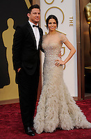 HOLLYWOOD, CA - MARCH 2: Channing Tatum, Jenna Dewan-Tatum arriving to the 2014 Oscars at the Hollywood and Highland Center in Hollywood, California. March 2, 2014. Credit: SP1/Starlitepics. /NORTePHOTO