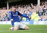 Everton's Wayne Rooney celebrates scoring his sides opening goal duringthe premier league match at Goodison Park, Liverpool. Picture date 12th August 2017. Picture credit should read: David Klein/Sportimage