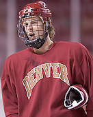 Zach Blom - Reigning national champions (2004 and 2005) University of Denver Pioneers practice on Friday morning, December 30, 2005 before hosting the Denver Cup at Magness Arena in Denver, CO.