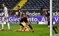 v.l. Torjubel, Goal celebration, celebrate the goal zum 2:3 durch Daichi Kamada (Eintracht Frankfurt)<br />  - 26.05.2020 Fussball 1.Bundesliga Spieltag 28, Eintracht Frankfurt  - SC Freiburg emspor, <br /> <br /> Foto: Jan Huebner/Pool/ Via Marc Schueler/Sportpics.de<br /> (DFL/DFB REGULATIONS PROHIBIT ANY USE OF PHOTOGRAPHS as IMAGE SEQUENCES and/or QUASI-VIDEO), Editorial use only. National and International News Agencies OUT