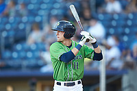 Drew Waters (11) of the Gwinnett Stripers at bat against the Scranton/Wilkes-Barre RailRiders at BB&T BallPark on August 16, 2019 in Lawrenceville, Georgia. The Stripers defeated the RailRiders 5-2. (Brian Westerholt/Four Seam Images)