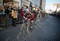 fun before the start in the streets of Bruges<br /> <br /> 99th Ronde van Vlaanderen 2015