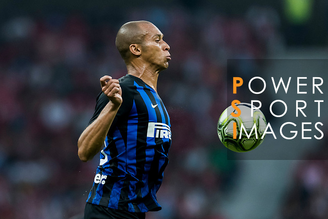 Joao Miranda de Souza Filho of FC Internazionale in action during their International Champions Cup Europe 2018 match between Atletico de Madrid and FC Internazionale at Wanda Metropolitano on 11 August 2018, in Madrid, Spain. Photo by Diego Souto / Power Sport Images