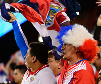 Harrison, NJ - Friday July 07, 2017: Costa Rica fans during a 2017 CONCACAF Gold Cup Group A match between the men's national teams of Honduras (HON) vs Costa Rica (CRC) at Red Bull Arena.
