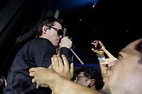 SÃO PAULO, SP 14.02.2019: STONE TEMPLE PILOTS-SP - A banda californiana, Stone Temple Pilots, formada por Robert DeLeo, Dean DeLeo, Eric Kretz e Jeff Gutt, se apresentou na noite desta quinta (14), no Credicard Hall, zona sul da capital paulista. O show faz parte da Revolución Tour 2019. (Foto: Ale Frata/Codigo19)