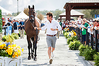 AUS-Christopher Burton presents Cooley Lands during the First Horse Inspection for the FEI World Team and Individual Eventing Championship. 2018 FEI World Equestrian Games Tryon. Wednesday 12 September. Copyright Photo: Libby Law Photography