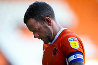 Blackpool's Jay Spearing reacts at the final whistle<br /> <br /> Photographer Alex Dodd/CameraSport<br /> <br /> The EFL Sky Bet League One - Blackpool v MK Dons  - Saturday September 14th 2019 - Bloomfield Road - Blackpool<br /> <br /> World Copyright © 2019 CameraSport. All rights reserved. 43 Linden Ave. Countesthorpe. Leicester. England. LE8 5PG - Tel: +44 (0) 116 277 4147 - admin@camerasport.com - www.camerasport.com