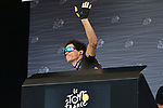 Sylvain Chavanel (FRA) Direct Energie at sign on before the start of Stage 13 of the 104th edition of the Tour de France 2017, running 101km from Saint-Girons to Foix, France. 14th July 2017.<br /> Picture: ASO/Pauline Ballet | Cyclefile<br /> <br /> <br /> All photos usage must carry mandatory copyright credit (&copy; Cyclefile | ASO/Pauline Ballet)