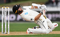 2nd December, Hamilton, New Zealand; New Zealand captain Kane Williamson leans away from a high ball on day 4 of the 2nd test cricket match between New Zealand and England  at Seddon Park, Hamilton, New Zealand.
