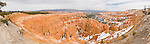 Panorama of the orange hoodoos of Bryce Canyon, Utah, United States of America