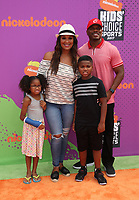 LOS ANGELES, CA July 13- Laila Ali, Curtis Conway, Sydney J. Conway, Curtis Muhammad Conway Jr., At Nickelodeon Kids' Choice Sports Awards 2017 at The Pauley Pavilion, California on July 13, 2017. Credit: Faye Sadou/MediaPunch