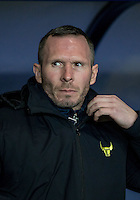 Michael Appleton Manager of Oxford United during the Johnstone's Paint Trophy Southern Final 2nd Leg match between Oxford United and Millwall at the Kassam Stadium, Oxford, England on 2 February 2016. Photo by Andy Rowland / PRiME Media Images.