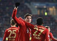 FUSSBALL   1. BUNDESLIGA  SAISON 2012/2013   16. Spieltag FC Augsburg - FC Bayern Muenchen         08.12.2012 Jubel nach dem Tor zum 0:2 Mario Gomez und David Alaba (v. li., FC Bayern Muenchen)