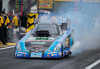 Apr 12, 2019; Baytown, TX, USA; NHRA funny car driver Jeff Diehl during qualifying for the Springnationals at Houston Raceway Park. Mandatory Credit: Mark J. Rebilas-USA TODAY Sports