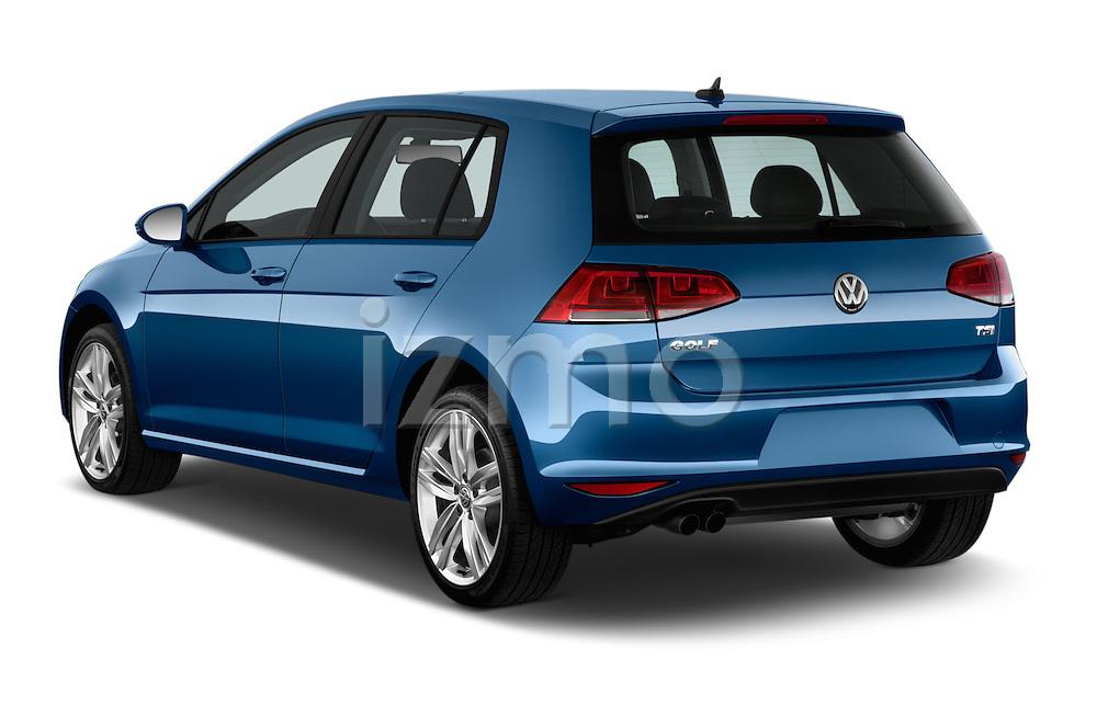 Car pictures of rear three quarter view of a 2015 Volkswagen Golf SEL 4-door TSI  Auto PZEV 4 Door Hatchback Angular Rear
