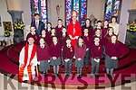 Knockaderry N S pupils who made their confirmation in St Gertrudes church Firies by Bishop Ray Browne on Thursday with with PP Fr Tadhg O'Doherty and Principal Aine Daly  and Teacher Con O'Mahony