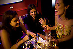Friends gather for drinks in the Scandal lounge at the Citizen Hotel in Sacramento, California.