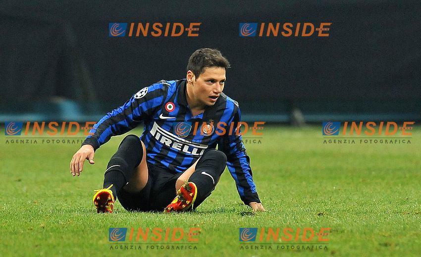 "Mauro ZARATE (Inter).Milano 07/12/2011 Stadio ""Giuseppe Meazza"".Champions League 2011/2012.Football Calcio Inter Vs CSKA Mosca.Foto Insidefoto Alessandro Sabattini."