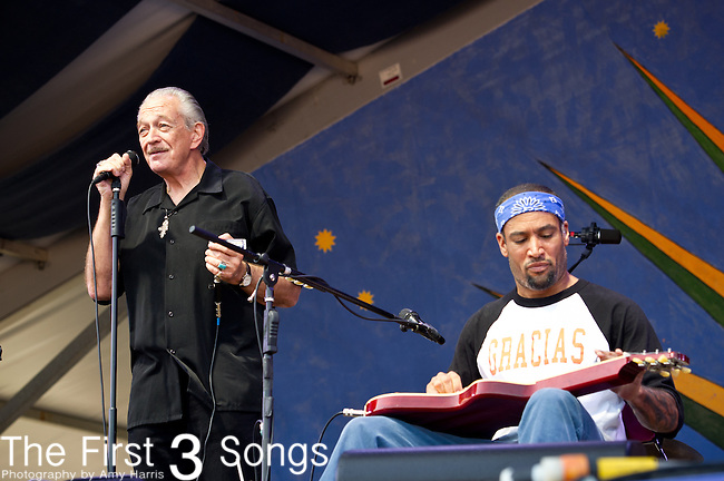 Ben Harper and Charlie Musselwhite performs during the New Orleans Jazz & Heritage Festival in New Orleans, LA.