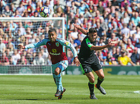 Burnley's Aaron Lennon battles with Bournemouth's Andrew Surman<br /> <br /> Photographer Alex Dodd/CameraSport<br /> <br /> The Premier League - Burnley v Bournemouth - Sunday 13th May 2018 - Turf Moor - Burnley<br /> <br /> World Copyright &copy; 2018 CameraSport. All rights reserved. 43 Linden Ave. Countesthorpe. Leicester. England. LE8 5PG - Tel: +44 (0) 116 277 4147 - admin@camerasport.com - www.camerasport.com