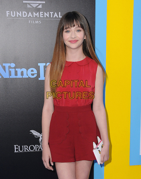 01 August 2016 - Hollywood, California. malina Weissman. World premiere of &quot;Nine Lives&quot; held at the TCL Chinese Theatre. <br /> CAP/ADM/BT<br /> &copy;BT/ADM/Capital Pictures