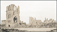 BNPS.co.uk (01202 558833)<br /> Pic: Pen&amp;Sword/BNPS<br /> <br /> The ruins of the Cloth Hall, Ypres.<br /> <br /> A poignant collection of images which were taken by a photographer who documented the graves of fallen soldiers on the Western Front have come to light in a new book.<br /> <br /> Ivan Bawtree was one of only three professional photographers assigned to the the Graves Registration Units to photograph and record the graves of fallen First World War soldiers on behalf of grieving relatives. <br /> <br /> His powerful photos of northern France and Flanders are a haunting reminder of the horrors of war and a fascinating insight into the early work of the Imperial War Graves Commission. <br /> <br /> Prior to the First World War, the casualties of war were generally buried in unmarked mass graves.