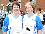 Geraldine Boylan and Johanna Kinsella from team Carrie who ran the Dunleer 4 mile run. Photo: Colin Bell/pressphotos.ie