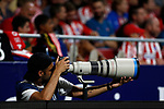 {persons} during La Liga match. Aug 18, 2019. (ALTERPHOTOS/Manu R.B.){persons} {scene} during the Spanish La Liga match between Atletico de Madrid and Getafe CF at Wanda Metropolitano Stadium in Madrid, Spain