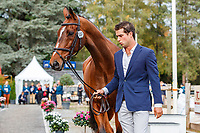NZL-James Avery presents Mr Sneezy during the CCI5*-L First Horse Inspection. Les 5 Etoiles de Pau. Pyrenees Atlantiques. France. Thursday 24 October. Copyright Photo: Libby Law Photography