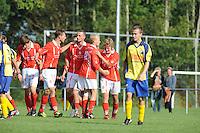 VOETBAL: WITMARSUM: 13-09-2014, SV Mulier - WPB, uitslag 1-0, Folkert van der Wei scoorde de 1-0, ©foto Martin de Jong