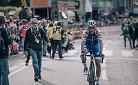 Julian Alaphilippe (FRA/Quick-Step Floors) finishes 2nd behind Vincenzo Nibali<br /> <br /> Il Lombardia 2017<br /> Bergamo to Como (ITA) 247km