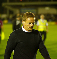 AFC Wimbledon manager, Neal Ardley with much on his mind during the Sky Bet League 1 match between AFC Wimbledon and MK Dons at the Cherry Red Records Stadium, Kingston, England on 22 September 2017. Photo by Carlton Myrie / PRiME Media Images.