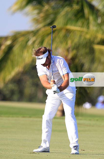 Victor Dubuisson (FRA) during the 2nd round at the WGC Cadillac Championship, Blue Monster, Trump National Doral, Doral, Florida, USA<br /> Picture: Fran Caffrey / Golffile