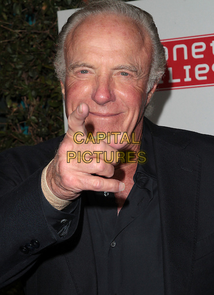 James Caan.The Grand Opening of Planet Dailies and Mixology 101 held at the Grove at the Farmers Market, Los Angeles, California, USA..5th April 2012.headshot portrait black hand finger pointing .CAP/ADM/SP/JO.©James Orken/Starlitepics/AdMedia/Capital Pictures.