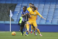 Preston North End's Ben Pearson battles with  Sheffield Wednesday's Joshua Onomah  <br /> <br /> Photographer Mick Walker/CameraSport<br /> <br /> The EFL Sky Bet Championship - Sheffield Wednesday v Preston North End - Saturday 22nd December 2018 - Hillsborough - Sheffield<br /> <br /> World Copyright &copy; 2018 CameraSport. All rights reserved. 43 Linden Ave. Countesthorpe. Leicester. England. LE8 5PG - Tel: +44 (0) 116 277 4147 - admin@camerasport.com - www.camerasport.com