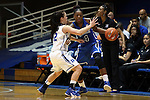 26 October 2014: Sierra Calhoun (4) and Mercedes Riggs (12). The Duke University Blue Devils held their annual Blue-White Game at Cameron Indoor Stadium in Durham, North Carolina in preparation of the upcoming 2014-15 NCAA Division I Women's Basketball season.