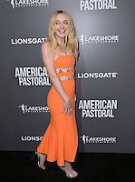 BEVERLY HILLS, CA. October 13, 2016: Dakota Fanning at the Los Angeles premiere of &quot;American Pastoral&quot; at The Academy's Samuel Goldwyn Theatre.<br /> Picture: Paul Smith/Featureflash/SilverHub 0208 004 5359/ 07711 972644 Editors@silverhubmedia.com