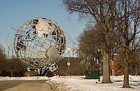 The Unisphere from the 1964-65 World's Fair in Flushing Meadows Park in Queens in New York on Saturday, February 22, 2014.   (© Richard B. Levine)