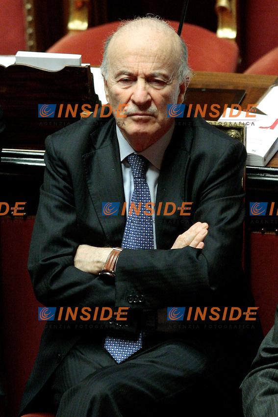 Giovanni Ferrara.Roma 01/03/2012 Senato. Discussione sul DDL Liberalizzazioni. .Photo Samantha Zucchi Insidefoto