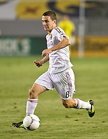 CARSON, CA - June 16, 2012: Real Salt Lake midfielder Will Johnson (8) during the Chivas USA vs Real Salt Lake match at the Home Depot Center in Carson, California. Final score Real Salt Lake 3, Chivas USA 0.