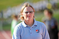 Sky Blue FC head coach Pauliina Miettinen. The Philadelphia Independence defeated Sky Blue FC 2-1 during a Women's Professional Soccer (WPS) match at John A. Farrell Stadium in West Chester, PA, on June 6, 2010.