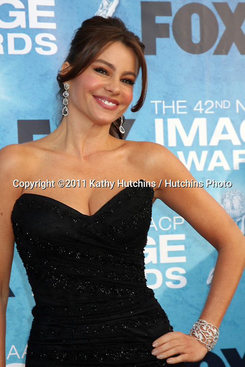 LOS ANGELES -  4: Sofia Vergara arriving at the 42nd NAACP Image Awards at Shrine Auditorium on March 4, 2011 in Los Angeles, CA