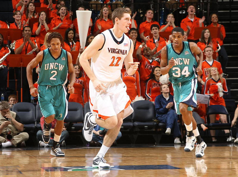 Virginia beat UNC Wilmington 69-67 Monday Jan. 18, 2010 in Charlottesville, Va. Virginia forward Will Sherrill (22) (Photo/The Daily Progress/Andrew Shurtleff)