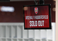 Confirmation of no more tickets being available for tonight's match during the Premier League match between Arsenal and Huddersfield Town at the Emirates Stadium, London, England on 29 November 2017. Photo by Carlton Myrie / PRiME Media Images.