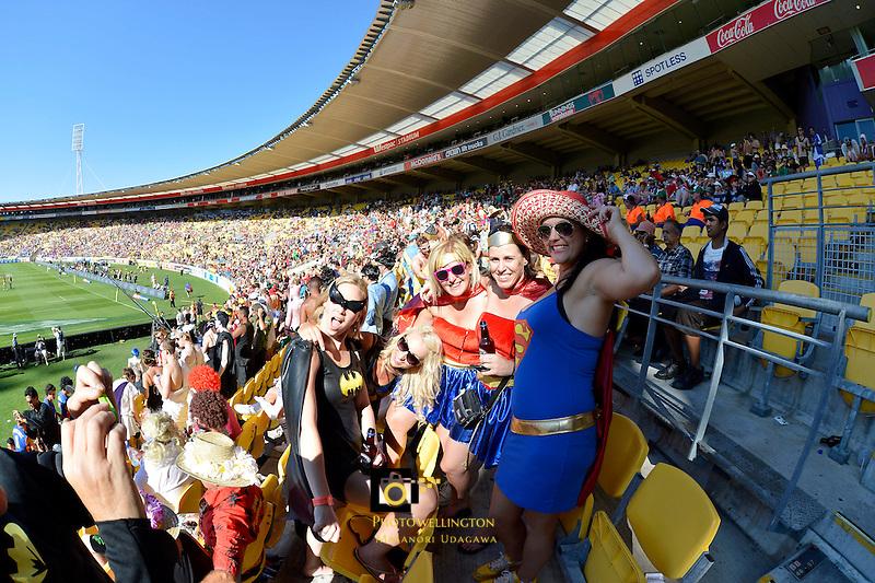 Hertz IRB Wellington Sevens Day Two at Westpac Stadium, Wellington, New Zealand on Saturday 2nd February 2013. Photo by Masanori Udagawa.<br /> www.photowellington..com