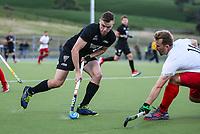 Dylan Thomas. International Hockey, Blacksticks men v Canada. Warkworth Hockey Turf, Warkworth, Auckland, New Zealand. Thursday 18 October 2018. Photo: Simon Watts/ Hockey NZ