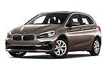 Stock pictures of low aggressive front three quarter view of a 2018 BMW bmw 2activetourluxmv1fb 5 Door Mini Van